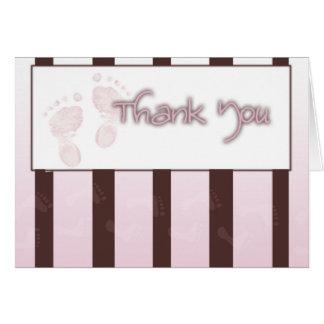 Dank u kaarden - meisjesbaby shower kaart