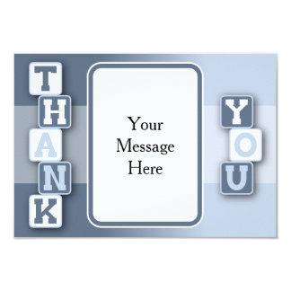 Dank u kaarden met het Lijst van de Tekst 8,9x12,7 Uitnodiging Kaart