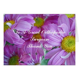 Dank u kaarden voor Orthopedische Chirurg Kaart