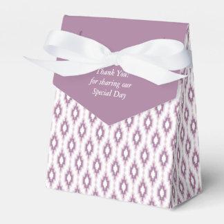 Dank u! Keur doos met paars ornament goed Bedankdoosjes