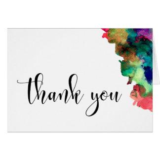 Dank u Kleurrijke Waterverf 4 van het Type van Briefkaarten 0