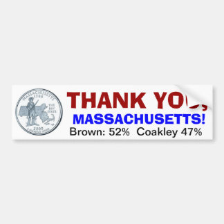 Dank u, Massachusetts Bumpersticker