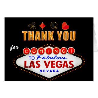 Dank u - Nacht van het Casino van het Teken van Notitiekaart