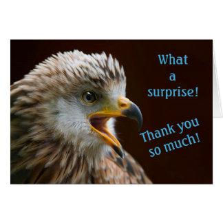 Dank u nota neemt van voor Verrassing, de Verraste Briefkaarten 0