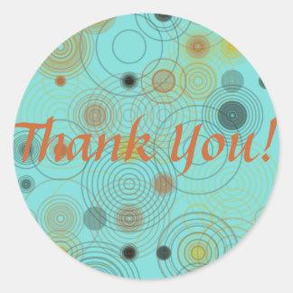 Dank u omcirkelt Vierkante Sticker