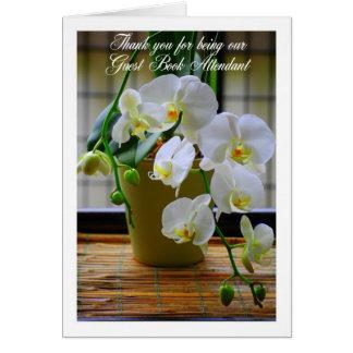 Dank u Orchideeën van het Boek van de Gast de Briefkaarten 0