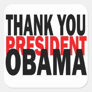 Dank u President Obama Vierkante Sticker