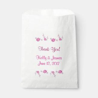 Dank u Roze Bloemen4Kelly James Wedding Bedankzakjes 0