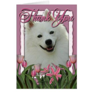 Dank u - Roze Tulpen - Amerikaanse Eskimo Kaart