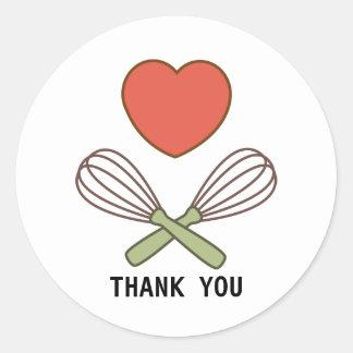 Dank u Sticker voor Koks en Bakkers