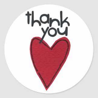 Dank u stikers ronde sticker