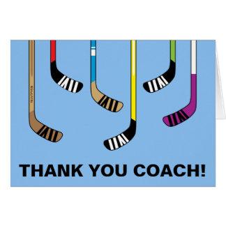 Dank u Stokken van het Hockey van de Bus van het Wenskaart