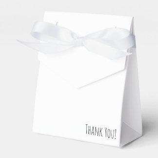 Dank u tentzak met romantische kroon bedankdoosjes
