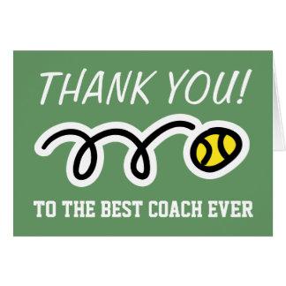 Dank u trainen | tenniswenskaarten wenskaart