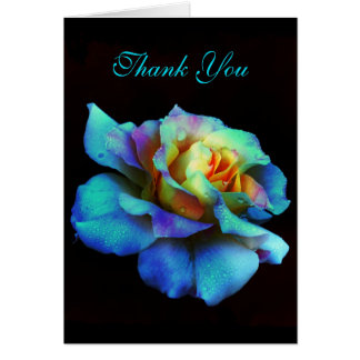 Dank u Turkooise Regenboog toenam Kaart