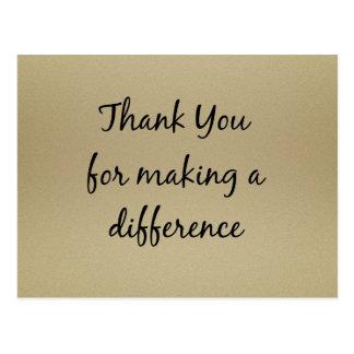 Dank u voor het Maken van een Verschil Briefkaart