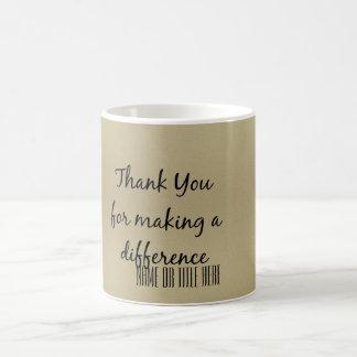 Dank u voor het Maken van een Verschil Koffiemok