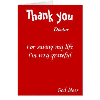 Dank u voor het redden van mijn het leven arts briefkaarten 0