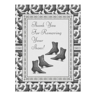 Dank u voor het Verwijderen van Uw Teken van Schoe Poster