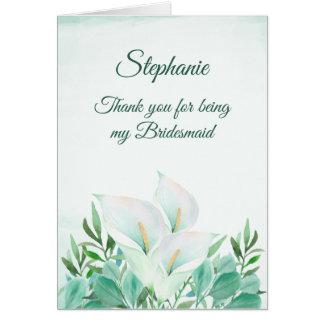 Dank u voor het Zijn Mijn Witte Calla van het Briefkaarten 0
