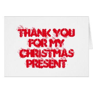 Dank u voor mijn aanwezige Kerstmis Kaart