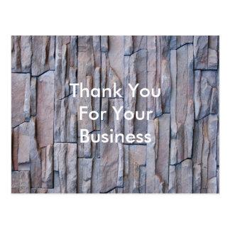 Dank u voor Uw BedrijfsBriefkaart Wens Kaart