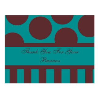 Dank u voor Uw BedrijfsBriefkaart Briefkaart