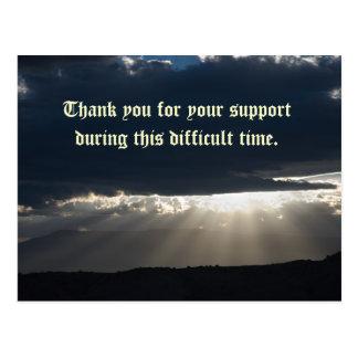 Dank u voor uw steun tijdens dit Di… Briefkaart