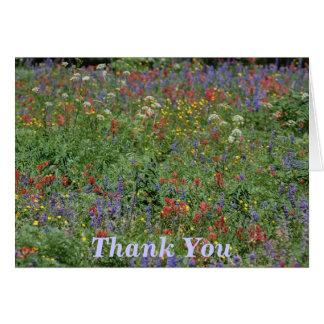 Dank u Wildflowers Kaart