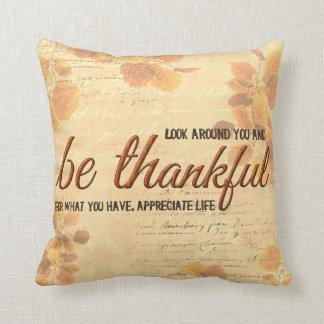 Dankbaar ben sierkussen