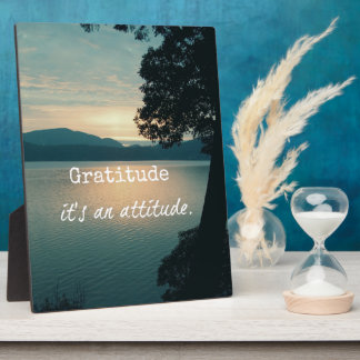 Dankbaarheid: Het is een Citaat van de Houding Fotoplaat