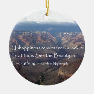 Dankbaarheid Rond Keramisch Ornament