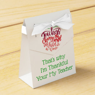 Dankbare de leraren behandelen Dozen voor Voedsel Bedankdoosjes