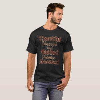 Dankbare Heilige en Fijngestampte Geobsedeerde T Shirt