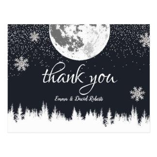 Danken de BosMaan van de winter & het Huwelijk van Briefkaart