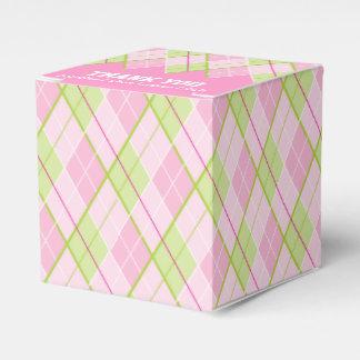 Danken de de stijl roze dames van Argyle u de doos Bedankdoosjes