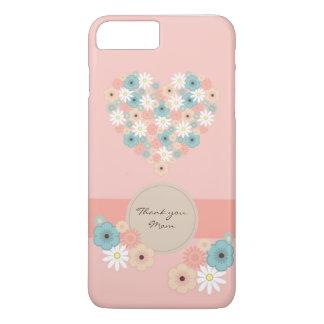 Danken de hart gevormde bloemen om te zeggen u iPhone 8/7 plus hoesje