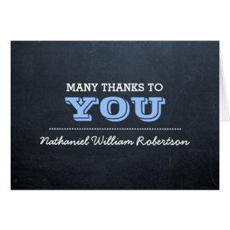 Dankt de Blauwe Bevestiging van het bord u nota Briefkaarten 0