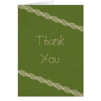 Dankt de Groene Verticaal van de kabel u kaardt Briefkaarten 0