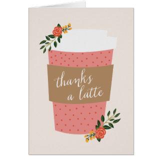 Dankt een Latte Notitiekaart