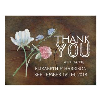 Dankt het Huwelijk van het Eiken Hout van Briefkaart