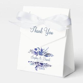 Dankt het koningsblauwen Geschilderde Huwelijk Bedankdoosjes
