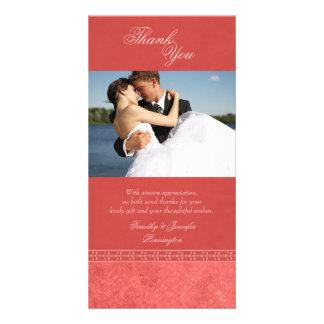 Dankt het roze vintage elegante huwelijk van de kaart