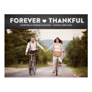 Dankt het Rustieke Dankbare Huwelijk van het land Briefkaart