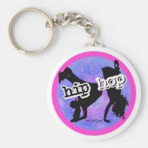 Dans - de Meisjes van Hip Hop keychain Sleutelhanger
