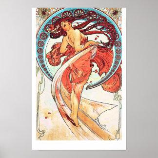 Dans door Alphonse Mucha Poster