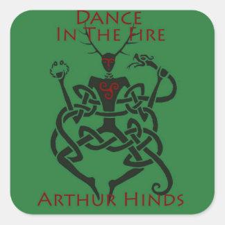 Dans in de Sticker van de Brand