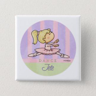 Dans - Jete - de overweging van het Ballet Vierkante Button 5,1 Cm