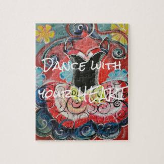 Dans met Uw Raadsel van het Hart Puzzel