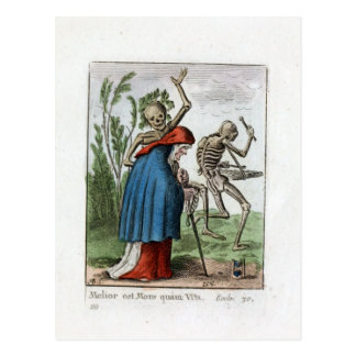 Dans van Dood - de Oude Vrouw - de Druk van 1816 Briefkaart